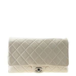Chanel A65051 Beige Quilted Shoulder Bag 165679